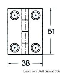 Anello Parabordi Bronzo Cromato 80x35x25 Mm 39 580 01 Osculati