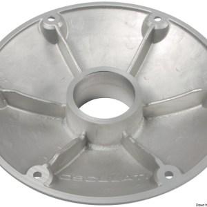 Base Alluminio Bianco Pavimento Per Tavolo 48 416 12 Osculati