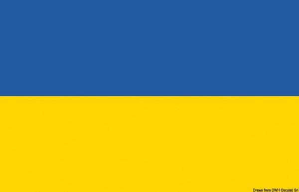 Bandiera Ucraina 20 X 30 Cm 35 462 01 Osculati