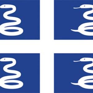 Bandiera Martinica 20x30 35 472 01 Osculati