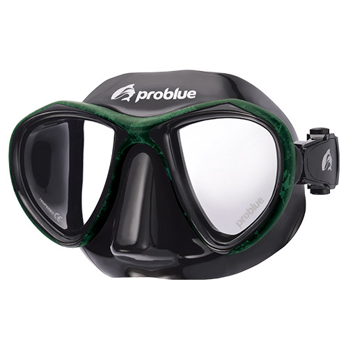 Problue Freediving Mask Camou Green MS-249B-C