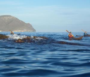 3 nautilus wooden kayaks Cabo de gata 2017 nautiluskayaks entre las rocas