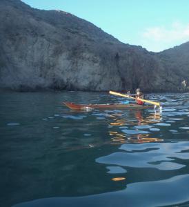 4 nautilus wooden kayaks Cabo de gata 2017  camino de vuelta