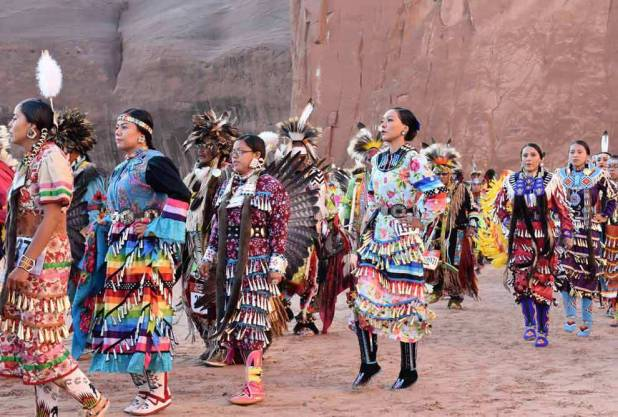 Navajo Times | Rima Krisst Ceremonial Grand Entry at the pow-wow.
