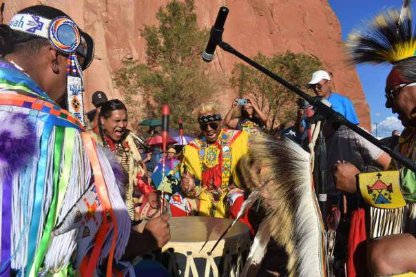 Navajo Times | Rima Krisst Kicking off the powwow with some high vibes.