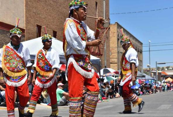 "Navajo Times | Rima Krisst ""The Flying Men"" in the ""Day Parade."""