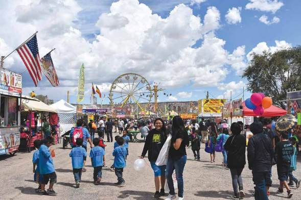 Navajo Times | Rima Krisst Kids and elder day was one of the busiest this year at the Navajo Nation Fair.
