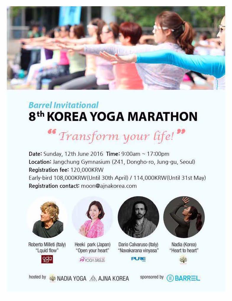 Dario Calvaruso @ Korea Yoga Marathon 2016