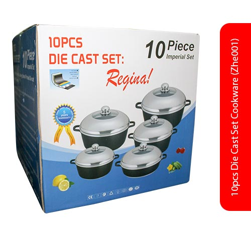 10pcs Die Cast Set Cookware (Zhe001)