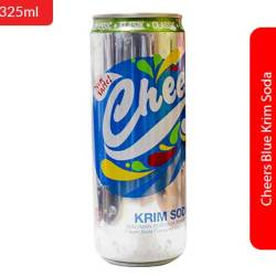 Cheers Blue Krim Soda 325ml