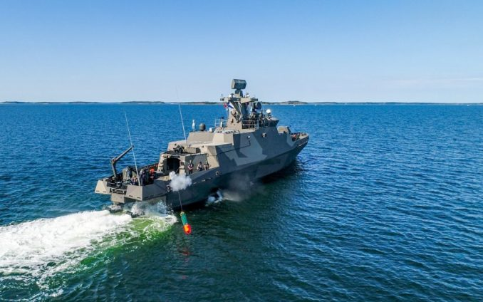 Finnish Navy Hamina-class Fast-Attack Craft fires Torpedo for the First Time 3