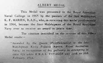 albert medal plate