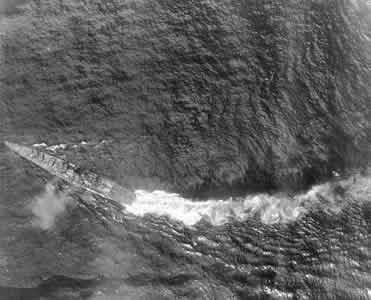 Chikuma Torpedo strike