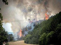 Incendio en Arazuri.