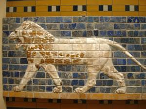 Mosaicos de leones en Babilonia