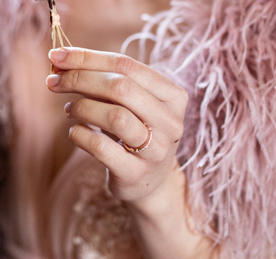Regency wedding ring - diamond set