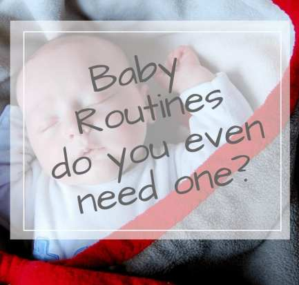 Baby sleep routines