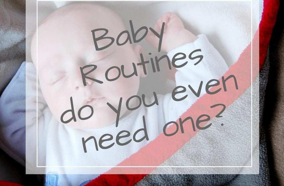 Baby sleep routines
