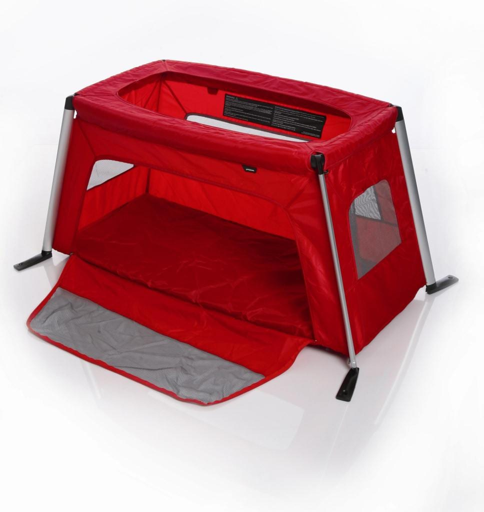 phil-teds-traveller-portable-travel-baby-cot-complete-red-traveller-ith-side-open