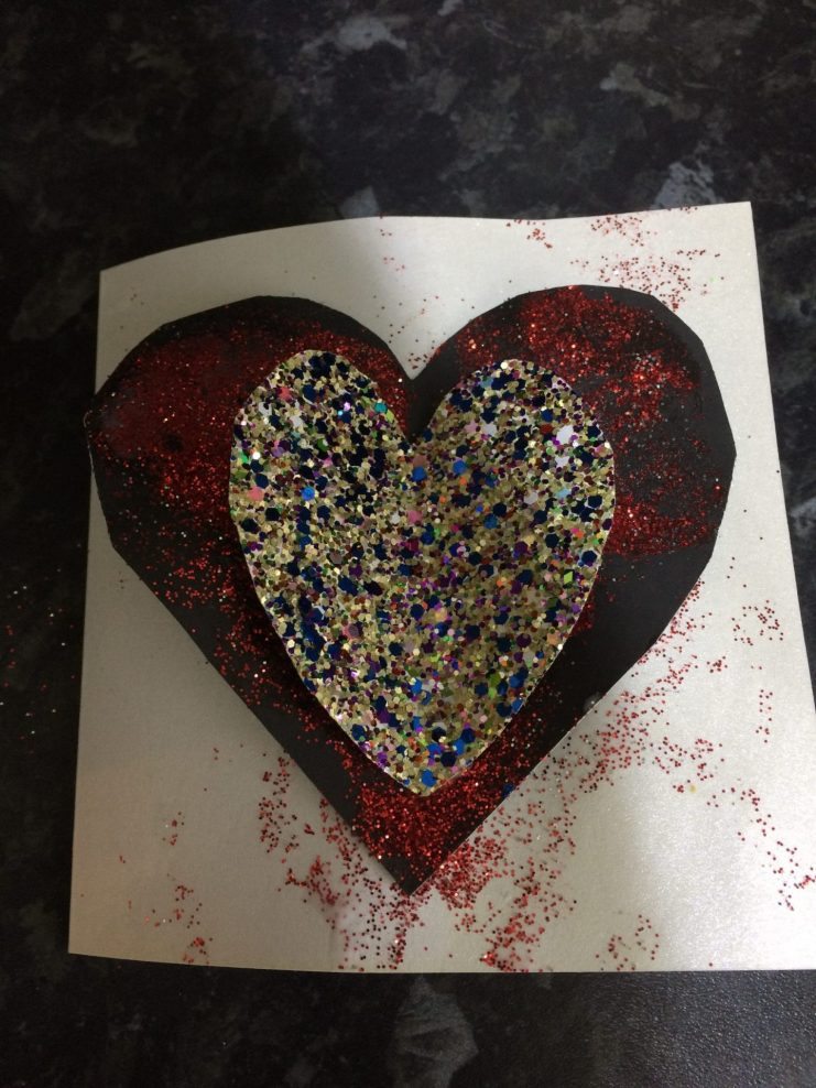 Valentines Day Craft for kids heart card