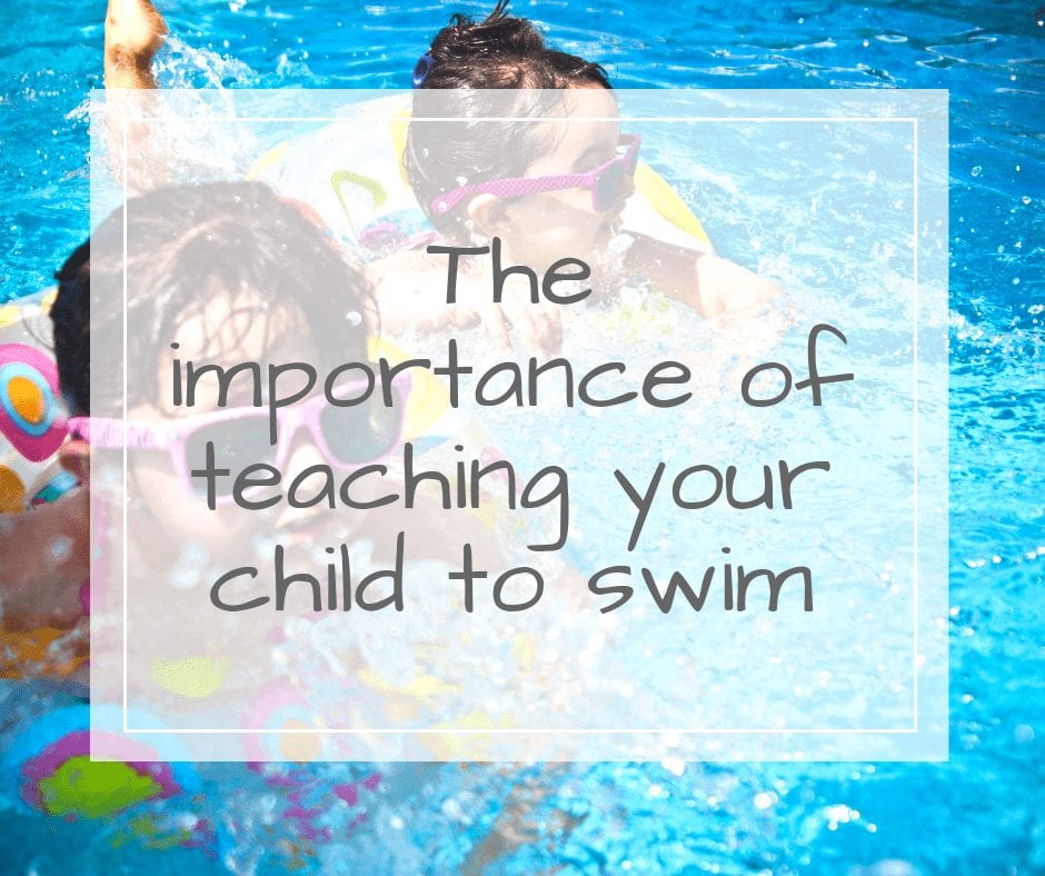 teaching children to swim