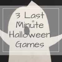 3 Last minute Halloween games for kids