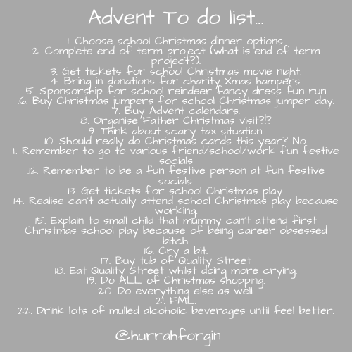 advent to do list