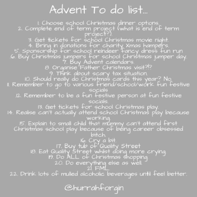 advent to do list