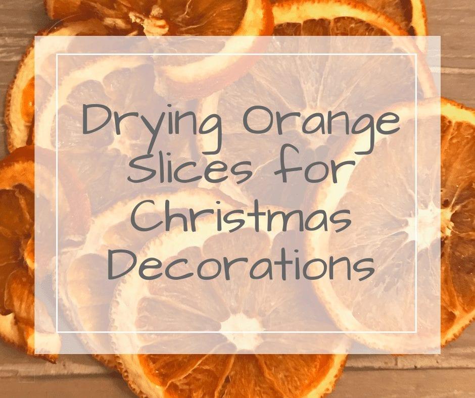 Drying Orange Slices for Christmas