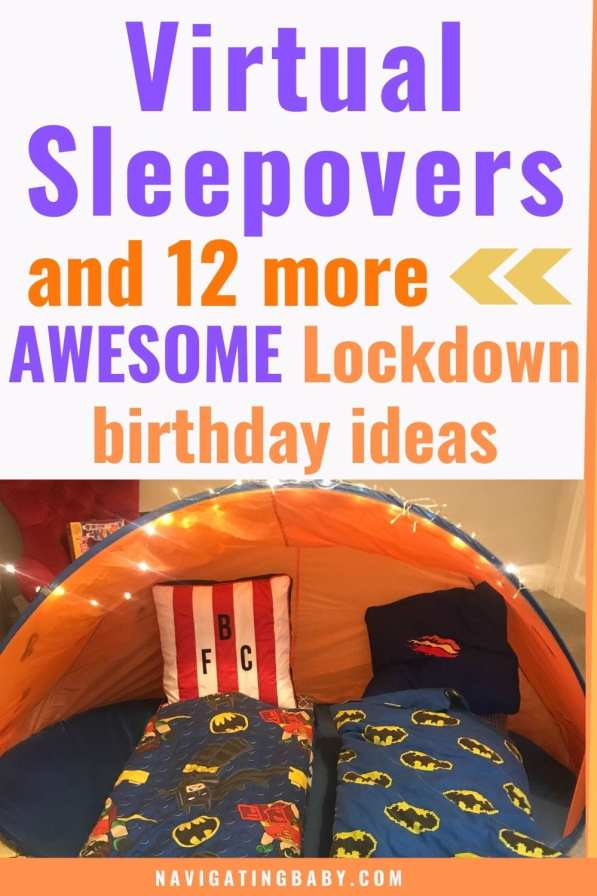 Kids Lockdown Birthday Virtual Sleepover