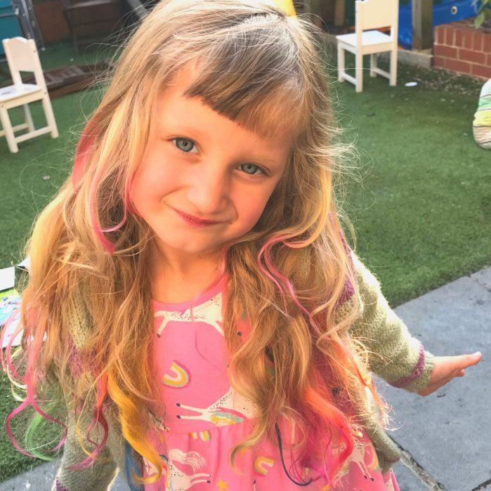 Mermaid Hair Kids Lockdown Birthda