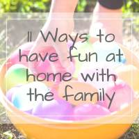 11 Fun Family Lockdown Activities