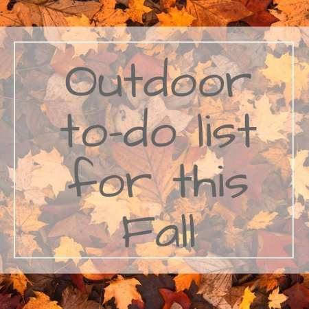outdoor to-do list