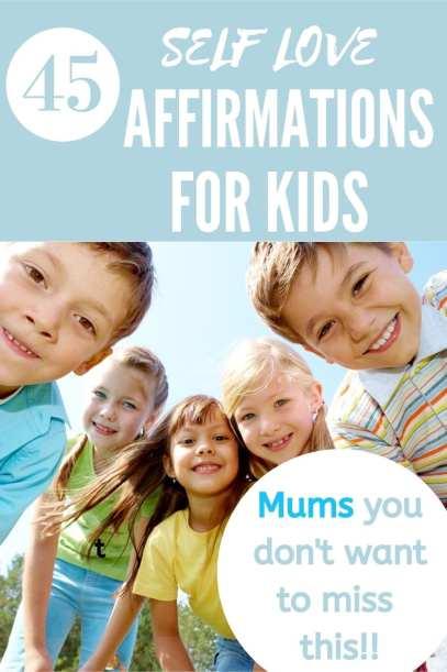 self love affirmations for kids