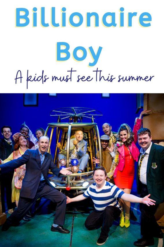 billionaire boy theatre; image of billionaire boy cast