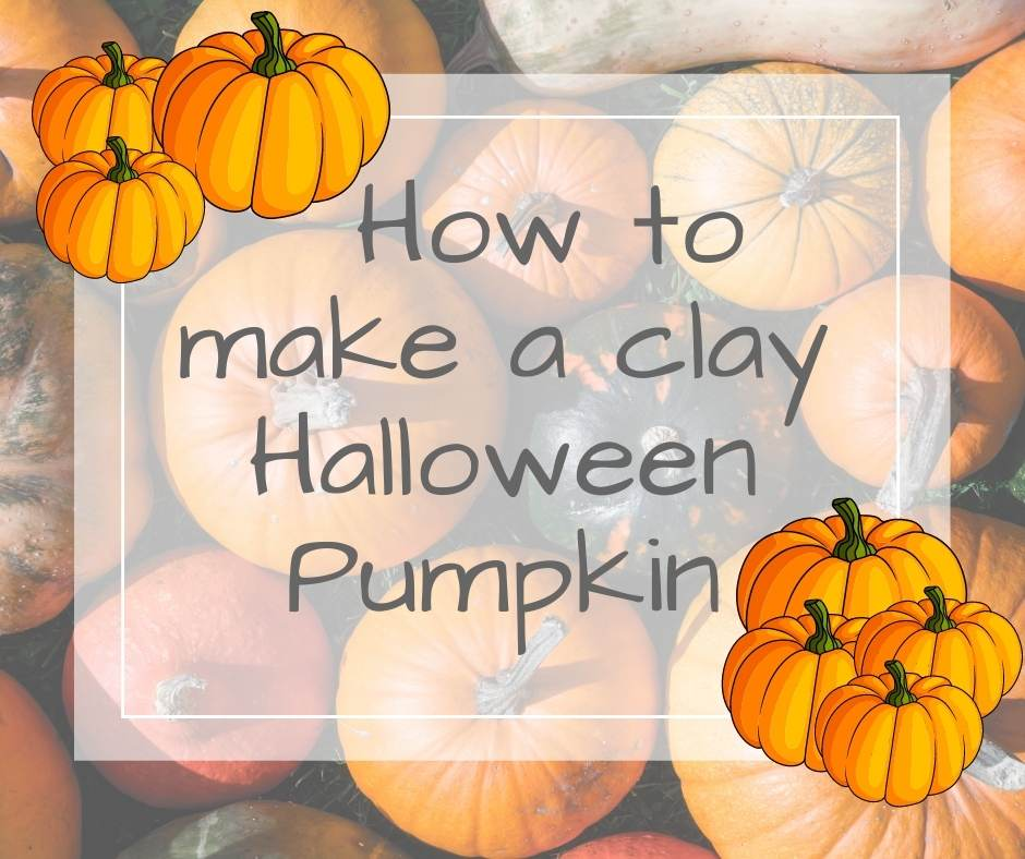 clay halloween pumpkin