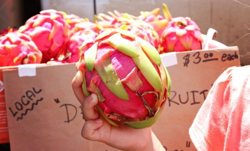 Ooh dragon fruit!