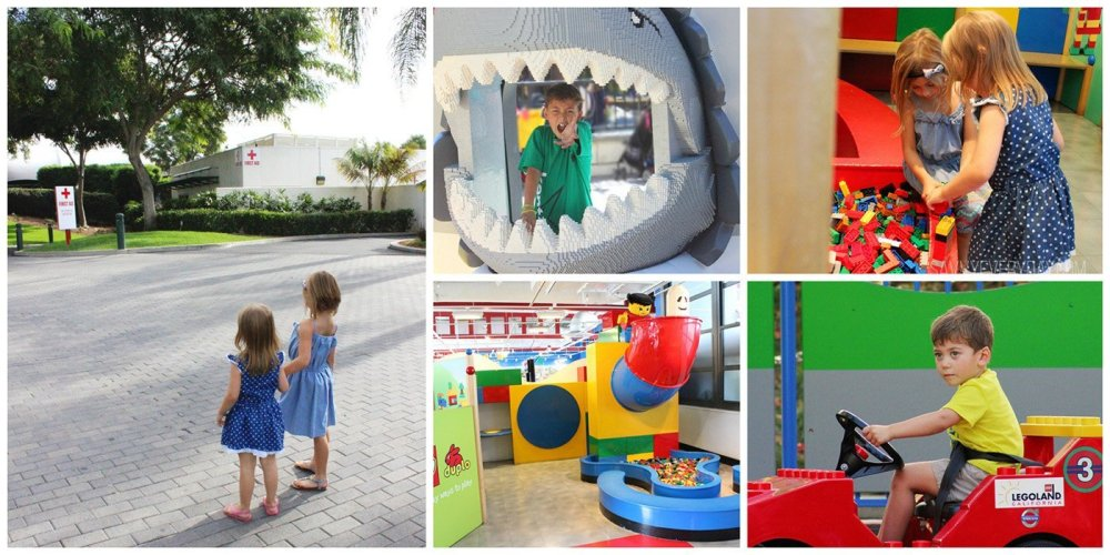 collage of sites to see at LEGOLAND