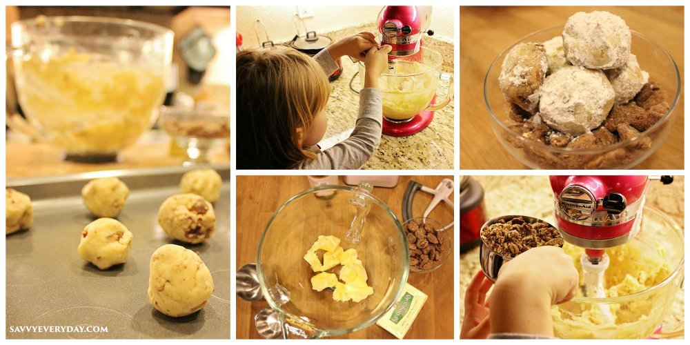making drop cakes collage
