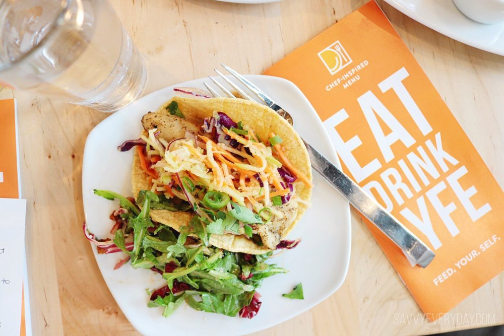 LYFE Mahi Fish Tacos and Farmers Market Salad