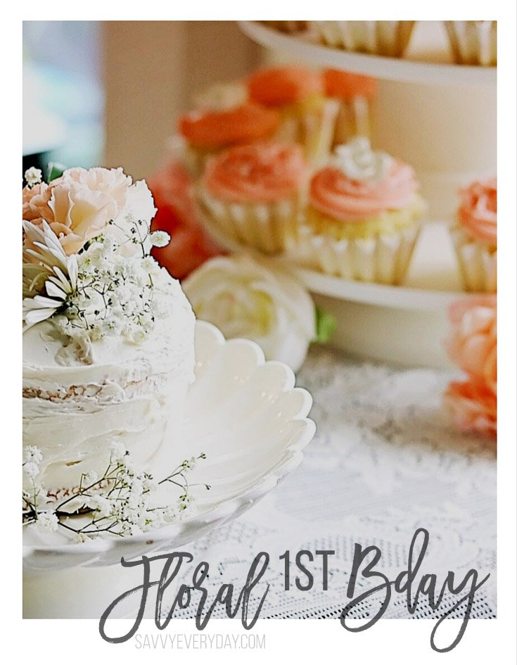 peachy 3 year old birthday party ideas at home. floral first bday A Peachy Floral First Birthday Party  Navigating