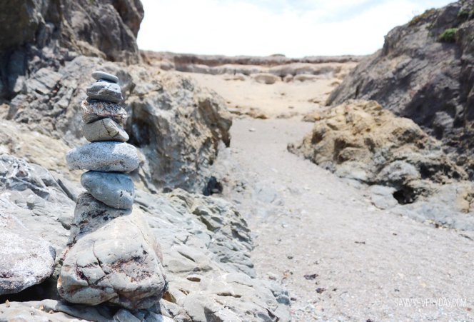 rock stack on beach