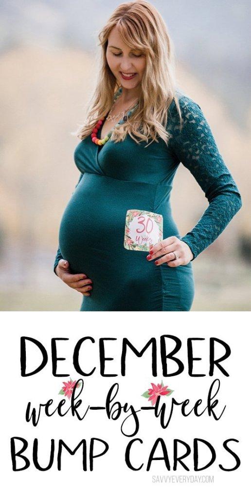 December Week-By-Week Bump Photo Cards Download