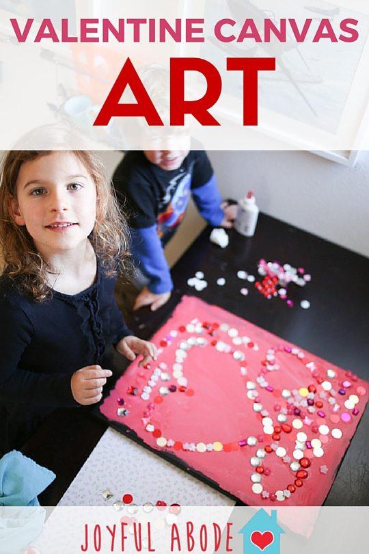 Valentine canvas art