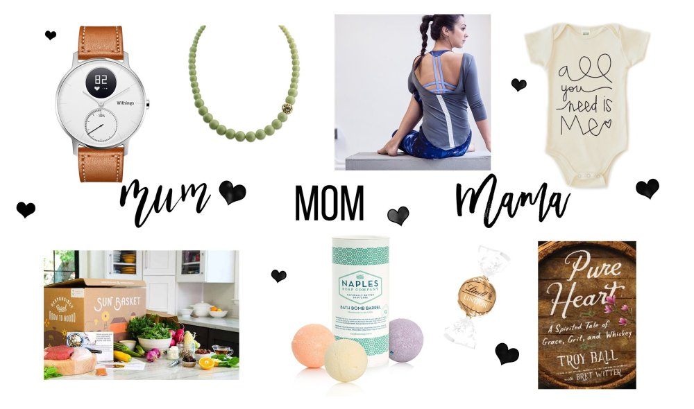 layout of mother's day gifts