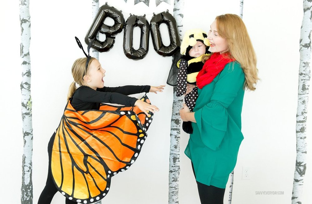 butterfly and bee kids costumes