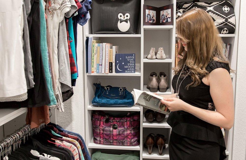 reading in closet