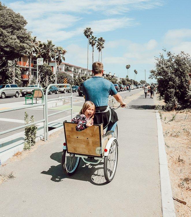 Savannah and dad in rickshaw