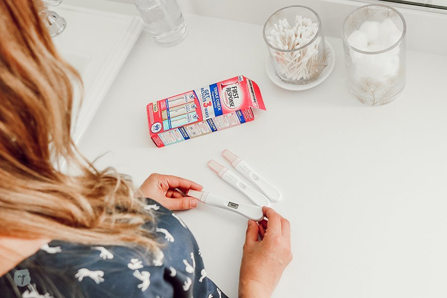 checking pregnancy tests