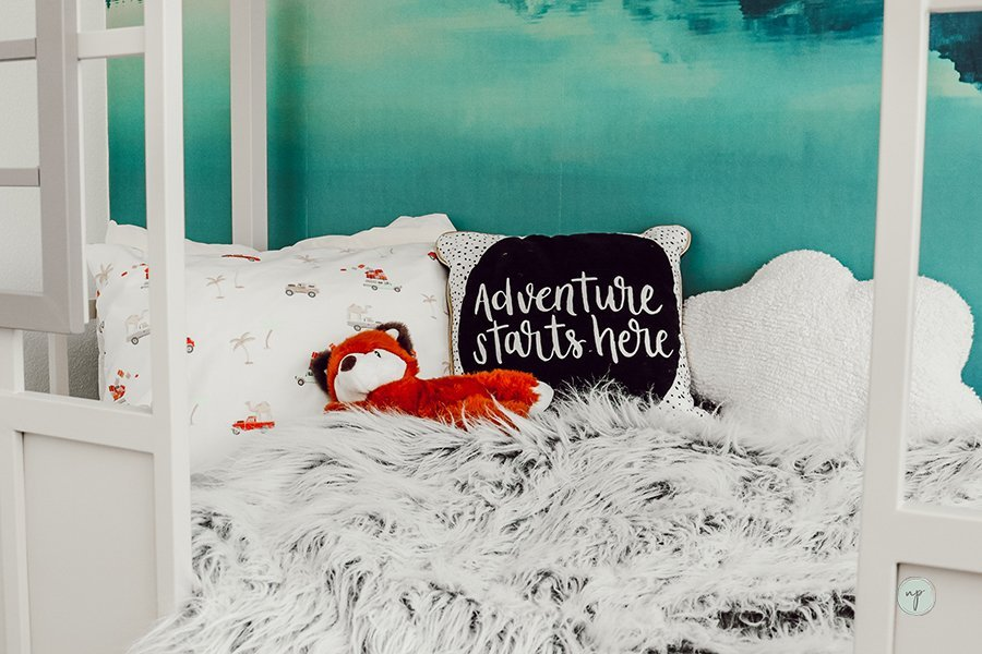 close up of mountain adventure bed